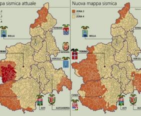 Mappa delle zone sismiche del piemonte