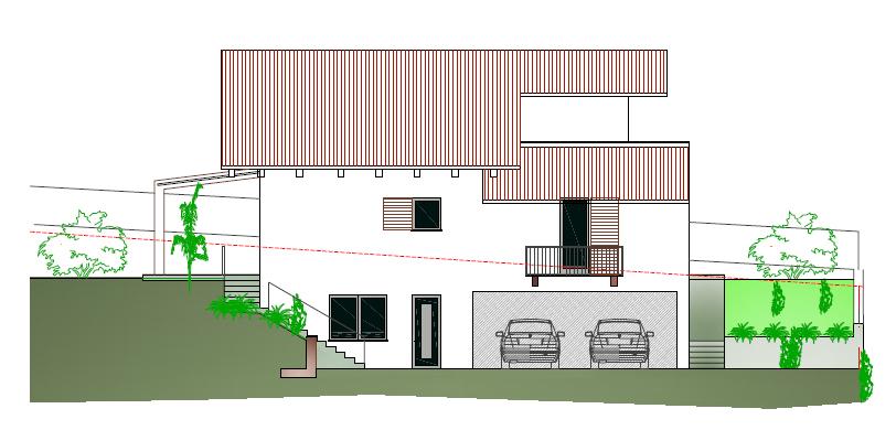 Prospettiva casa nuova costruzione a La Morra nelle langhe