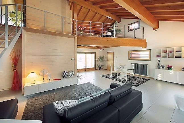 Case in legno perch mi piace la casa ecologica - Case prefabbricate interni ...