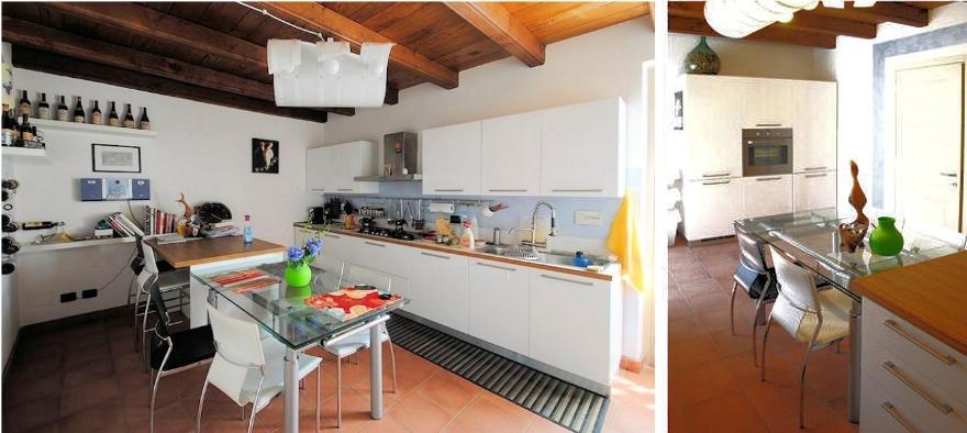Cucina moderna lineare e versatile