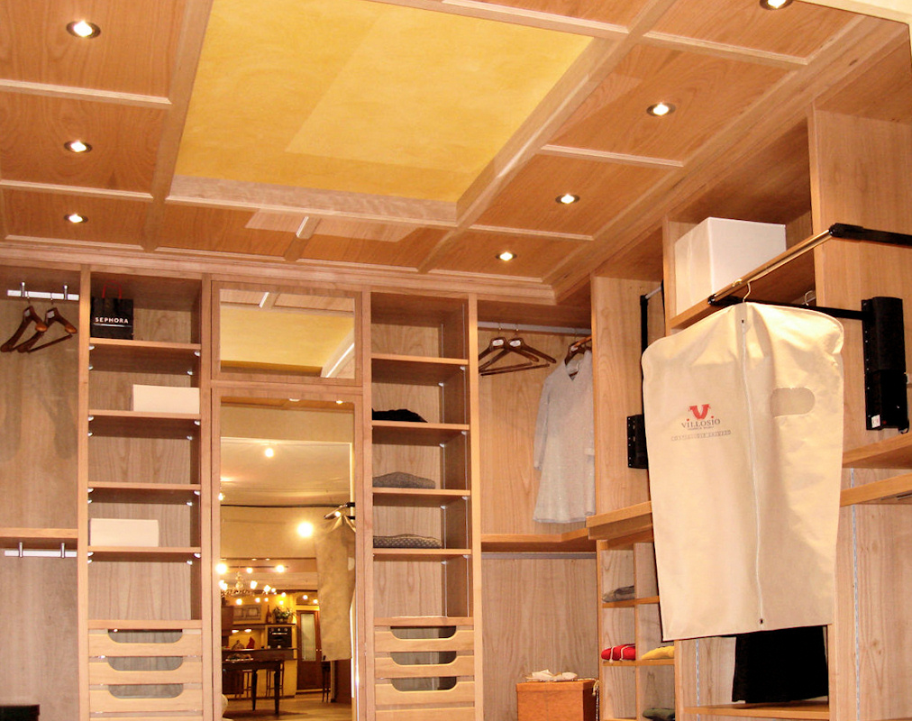 Faretti Da Incasso Legno cabina armadio su misura in legno - grandacasa