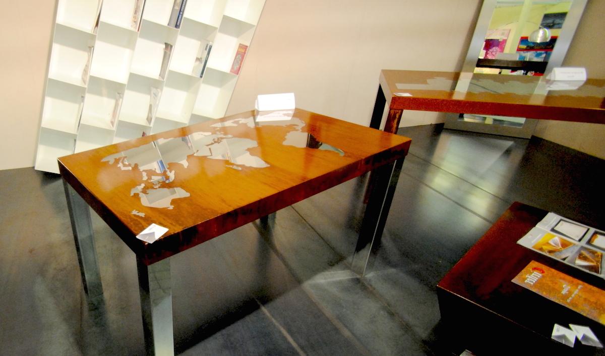 Tavolo artigianale inox e corten grandacasa - Ristrutturare tavolo in legno ...