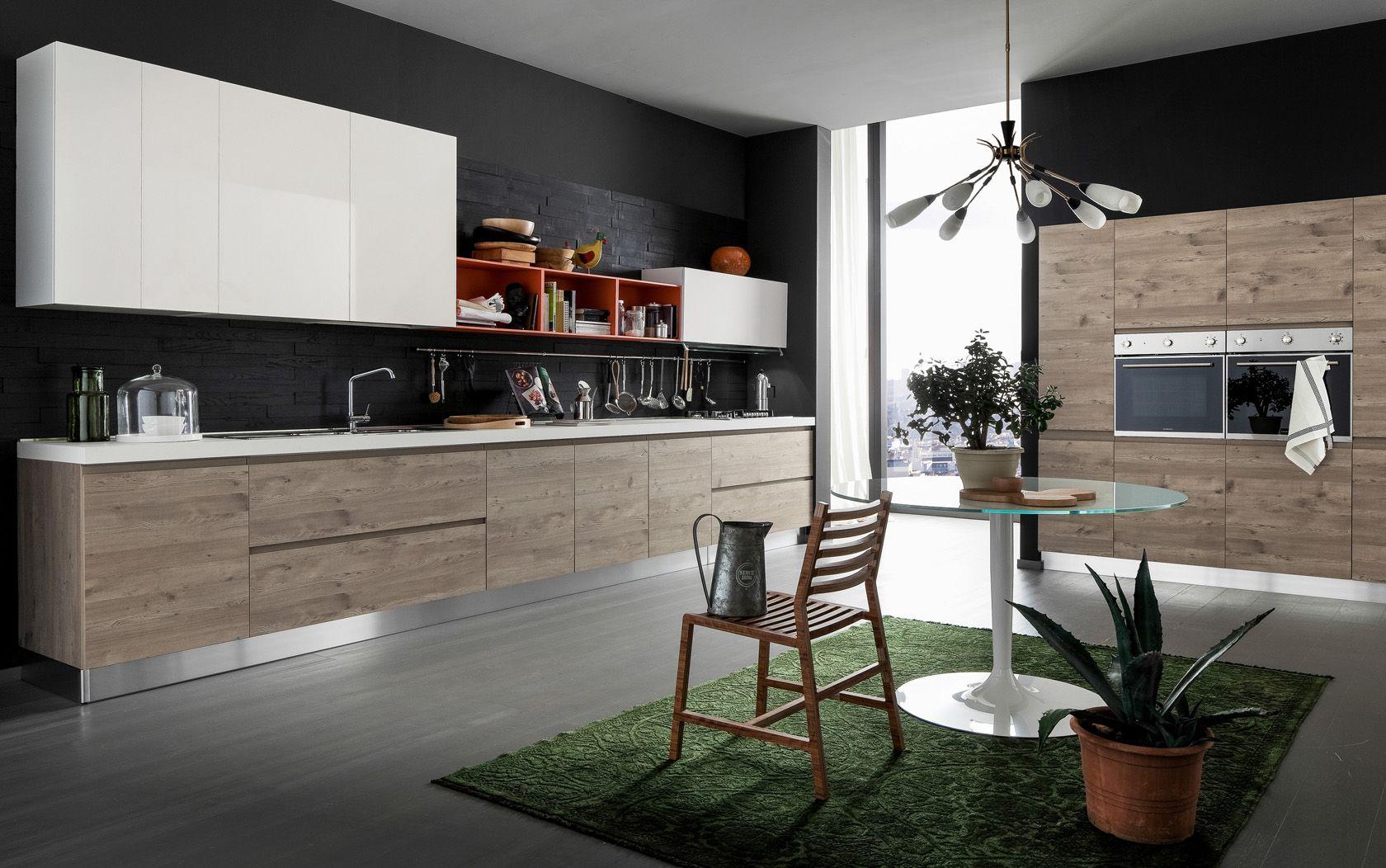 Cucina effequattro wave grandacasa - Cucina laminato effetto legno ...