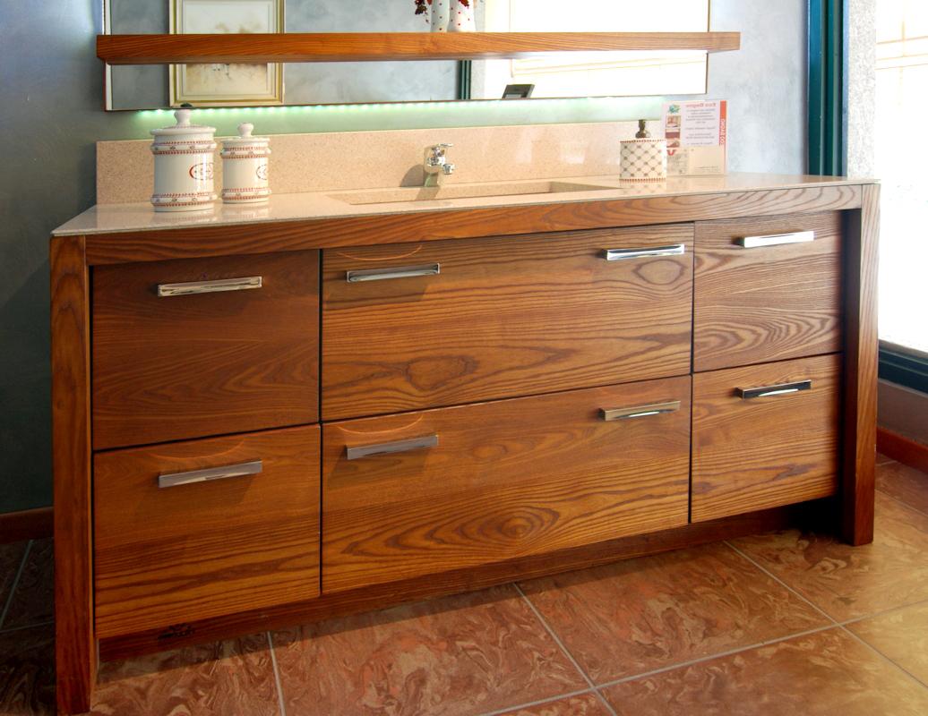 Mobile bagno artigianale in frassino grandacasa - Mobile legno bagno ...