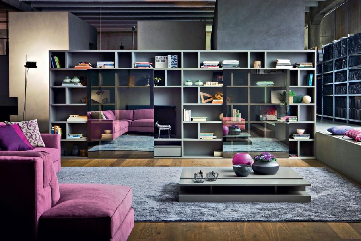Parete libreria novamobili living system grandacasa - Novamobili living ...