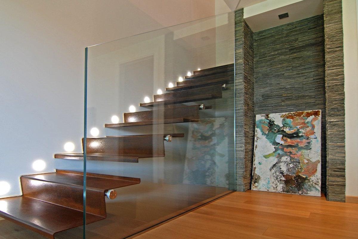 Design vetro e corten grandacasa - Casa in acciaio e vetro ...