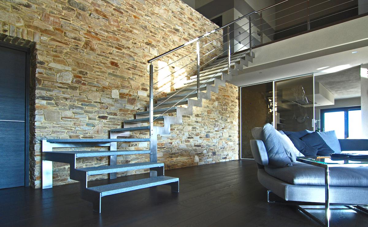 Scale acciaio e pietra grandacasa for Scale esterne design